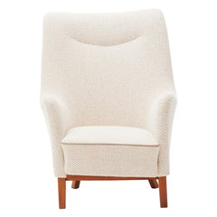 Danish Easy Chair, Reupholstered