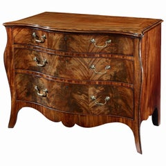 George III Mahogany Serpentine Commode
