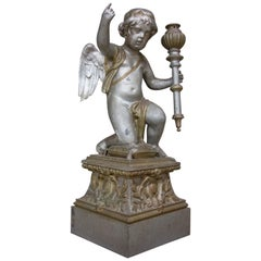 French Brocante Cherub van Zink, Paris, 1850