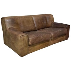 Midcentury De Sede Exclusiv Model DS42 Sofa, Brown Leather, Switzerland, 1970s