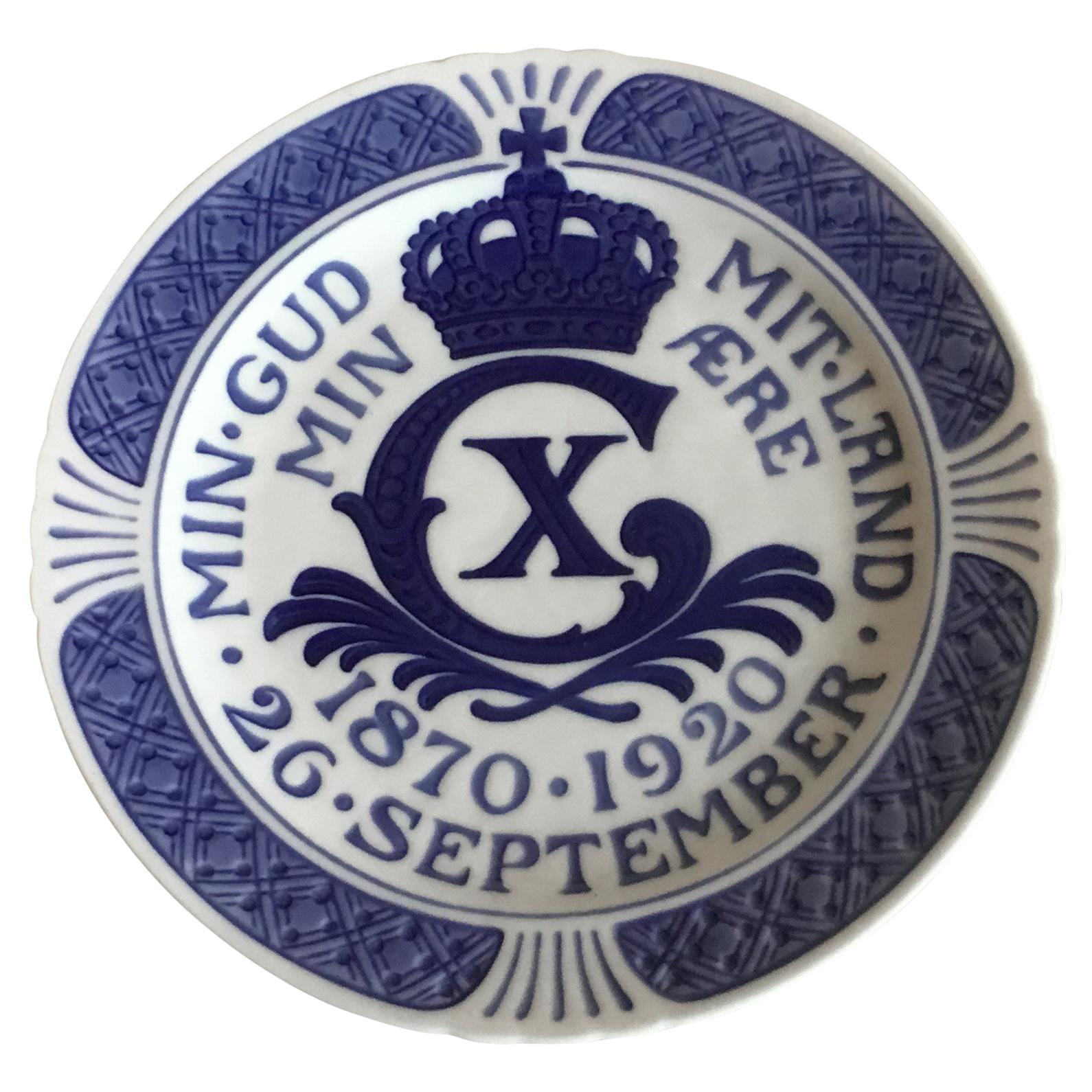 Royal Copenhagen Commemorative Plate from 1920 RC-CM195