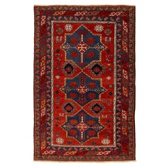 Antique Caucasian Hand-Woven Wool Rug