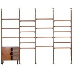 Wall Unit / Shelf System by Leonardo Fiori for I.S.A. Bergamo, Italy, 1950s