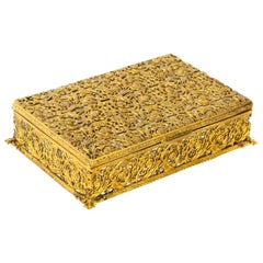 Antique French Ormolu and Mother of Pearl Casket, 19th Century