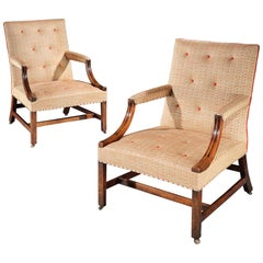 Pair of Early George III Gainsborough Armchairs