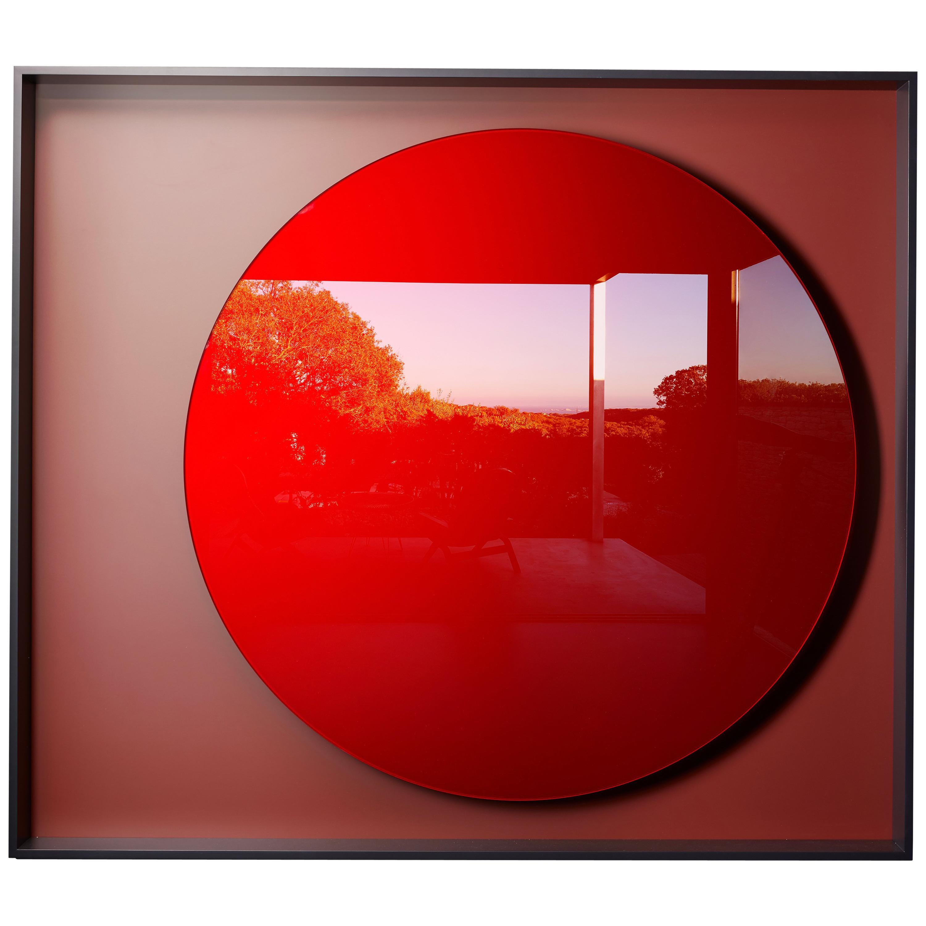 Red Moon Mirror, by Reda Amalou Design, 2018, Gallery Collection. Art Design.