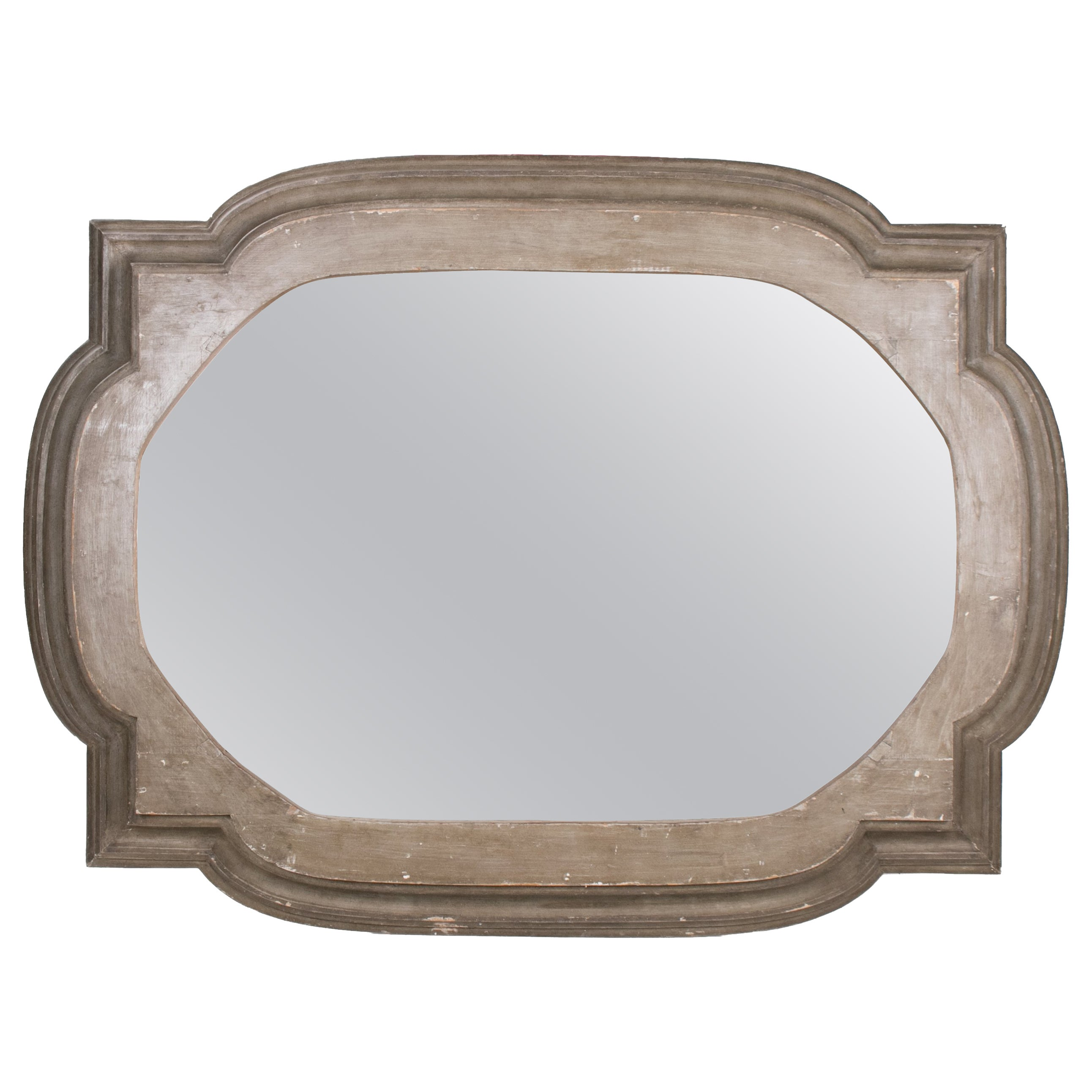 1970s French Decorative Wooden Mirror