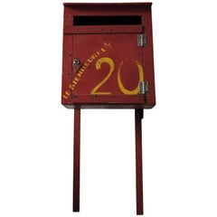 Vintage Painted Red French Post Box, 1930s