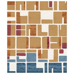 Jeanneret Poil de Chameau Hand-Knotted Wool and Silk 2.5 x 3.0m Rug