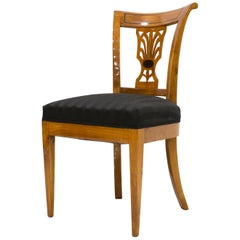 Set of 4 Biedermeier Chairs, Cherrywood, Late 19th Century