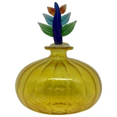 Yellow Murano Perfume Flacon