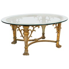 Stunning Bronze Hollywood Regency Coffee Table Mid-20th Century