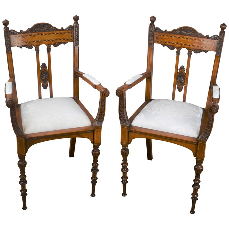 Superb Quality Victorian Mahogany Chairs For Sale