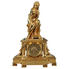 19th Century Figural Mantel Clock by Pierre Le Masson, Paris