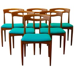 Set of 6 Dining Chairs by Johannes Andersen for Uldum Denmark