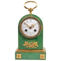 Shagreen and Ormolu Mantel Clock, circa 1900
