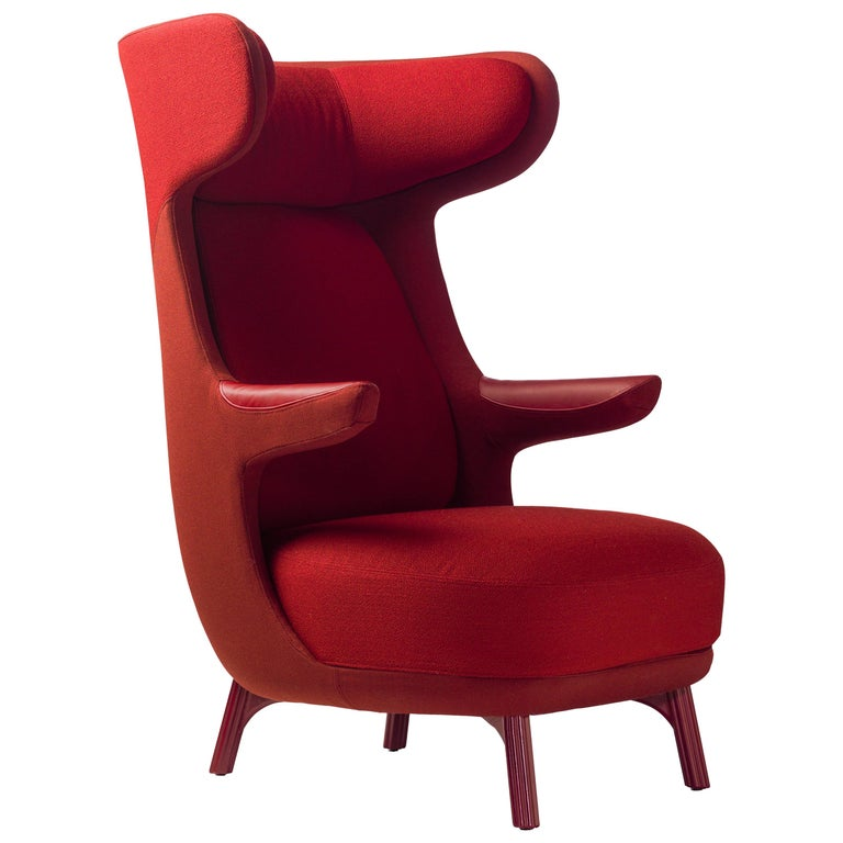 Hayon Edition Dino Armchair in Fabric and Leather Upholstery by BD Barcelona For Sale