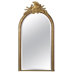 Empire Style Parcel Gilt Overmantel Mirror by 'Alix A Paris', circa 1880
