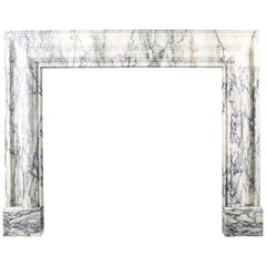 Baroque Bolection Fireplace Mantel in Italian Pavonazzo Marble Nr.2