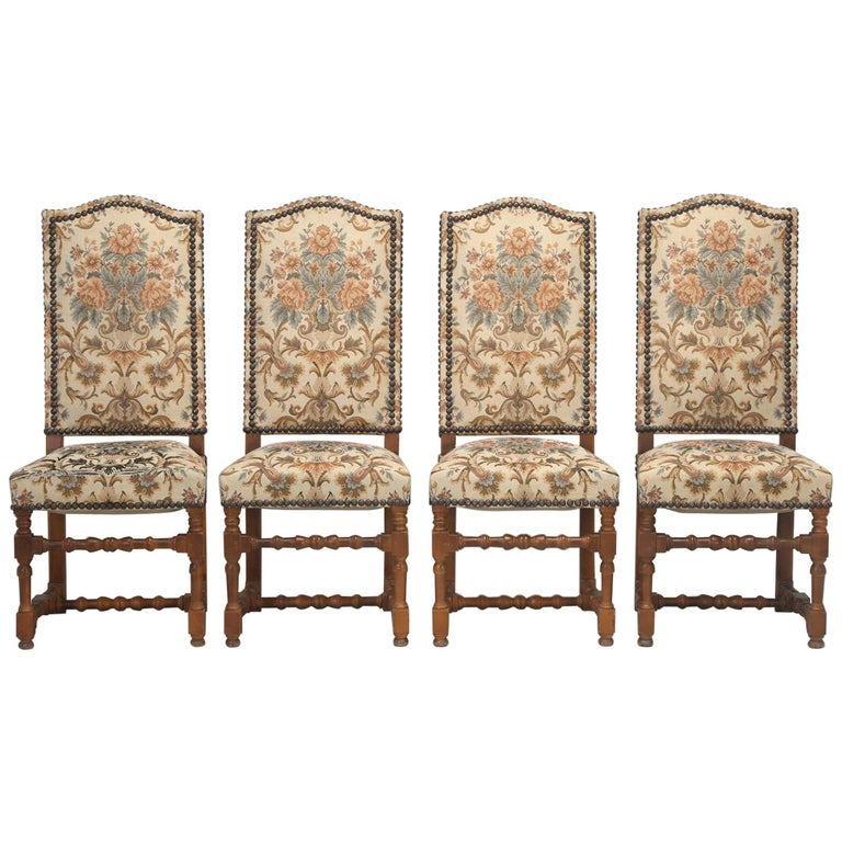 Set of '4' Vintage French Dining Chairs For Sale