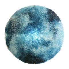Jacopo Foggini Contemporary Modern Circular Blue Polycarbonate Italian Wall Lamp