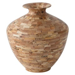 STACKED Spalted Maple Vase by Richard Haining