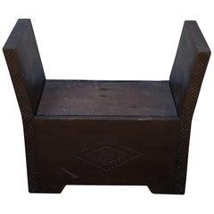 Moroccan Cedar Wood Bench / Trunk, 1 Seat