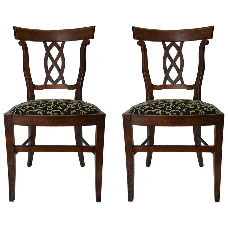 Accent Chairs Sold In Pairs.Pair Of Antique Side Accent Chairs