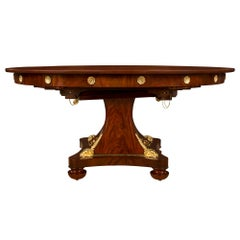 French 19th Century Neoclassical Style Mahogany and Ormolu Dining Table