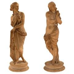 Pair of Italian 18th Century Terra Cotta Statues