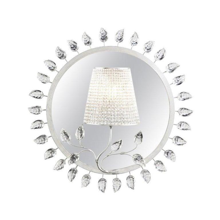Certified Baguès Paris Crystal Mirror Sconce For Sale