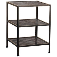 Three-Tier Expanded Metal Shelf Unit, Custom Made to Order