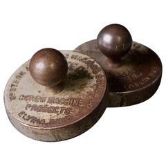1800s Bollard Paperweight Victorian Machinist Factory Office Salesman Promotion