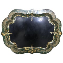 French 19th Century Large Tole Tray