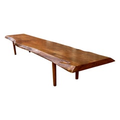 New Hope School Black Walnut Table/Bench