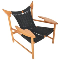Danish Modern Reclaimed Oak MG32 Lounge Chair by Martin Godsk