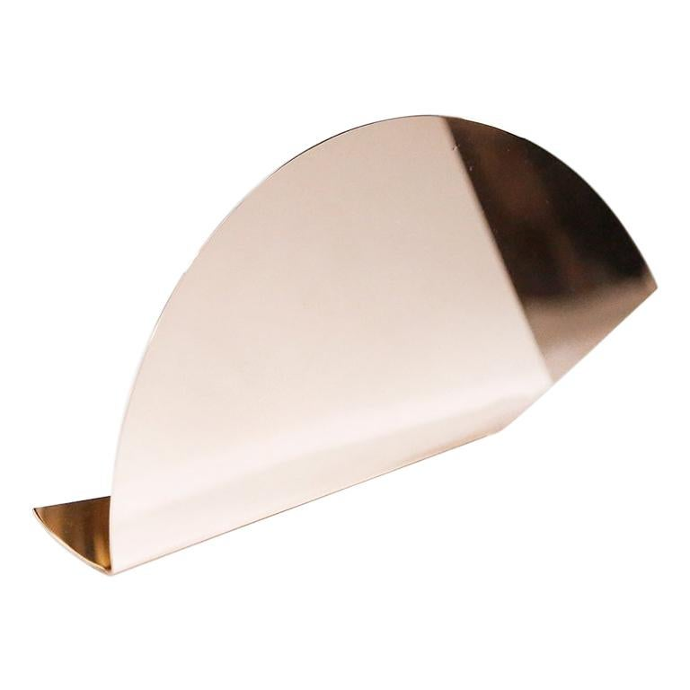'Bent Mirrors' Minimalist Objects in Polished Copper For Sale