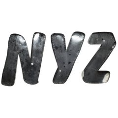 "Large Vintage Channel Letters ""NYZ"", circa 1950s"