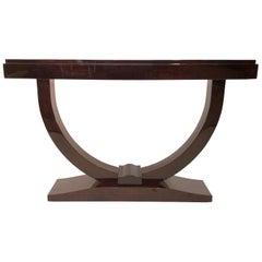 Original 1930s Art Deco Console Table in Real Wood Veneer