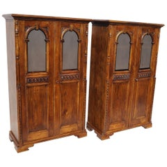 Two Eclectic Twin Bookcases from 1890