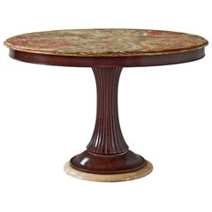 Osvaldo Borsani Pedestal Table with Onyx Top