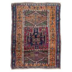 19th Century Antique Anatolia Turkish Rug, Tribal Design, circa 1870