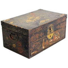 An 18th Century Chinoiserie Jewellery Box with Secret Compartment