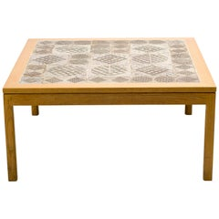 Ceramic Top Coffee Table by Erik Wørts and Tue Poulsen