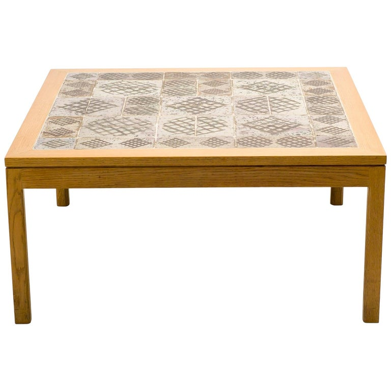 Ceramic Top Coffee Table by Erik Wørts and Tue Poulsen For Sale