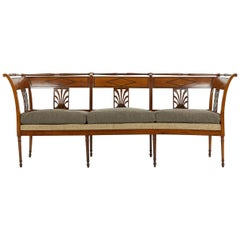 Early 19th Century French Cherrywood Sofa with Ebonised Inlay