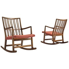 Hans Wegner Set of Two Early 'ML-33' Rocking Chairs