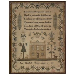 Antique Sampler, 1823, by Elizabeth Ewen