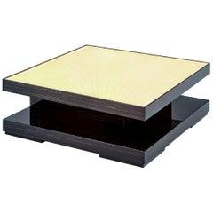 Fantastic Coffee Table Polished Ebony Finish Top in Vetrite