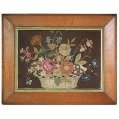Antique Flower Basket Appliqué Embroidery